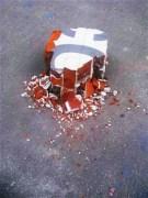 Lone brick pile